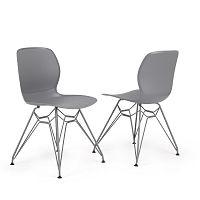Sada 2 šedých židlí Garageeight Rietia