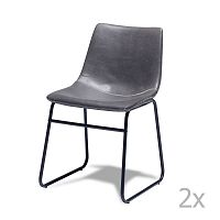 Sada 2 šedých židlí Knuds Indiana