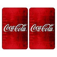 Sada 2 skleněných krytů na sporák Wenko Coca-Cola Classic