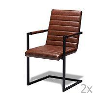 Sada 2 světle hnědých židlí Knuds Fanny