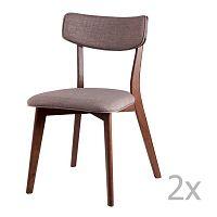 Sada 2 světle šedých jídelních židlí sømcasa Lina