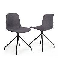 Sada 2 tmavě šedých židlí Garageeight Forett X