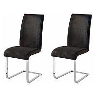 Sada 2 tmavě šedých židlí Støraa Manto