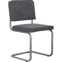 Sada 2 tmavě šedých židlí Zuiver Ridge Brushed Vintage