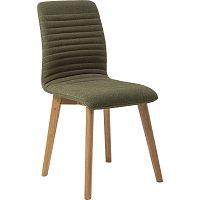Sada 2 tmavě zelených jídelních židlí Kare Design Lara