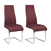 Sada 2 vínových jídelních židlí Støraa Teresa