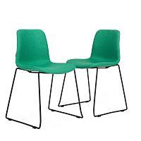 Sada 2 zelených židlí Garageeight Forett U