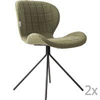 Sada 2 zelených židlí Zuiver OMG