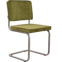 Sada 2 zelených židlí Zuiver Ridge Brushed Rib
