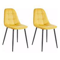 Sada 2 žlutých židlí Støraa Lamar