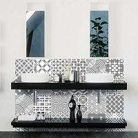 Sada 24 nástěnných samolepek Ambiance Wall Decals Modern Tiles, 20 x 20 cm