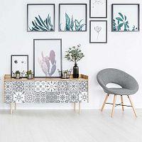 Sada 24 samolepek na nábytek Ambiance Tiles Stickers For Furniture Cerena, 15 x 15 cm