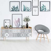 Sada 24 samolepek na nábytek Ambiance Tiles Stickers For Furniture Cerena, 20 x 20 cm