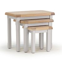 Sada 3 stoliček z akáciového dřeva VIDA Living Clemence