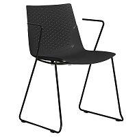 Sada 4 černých jídelních židlí Marckeric Edda