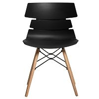 Sada 4 černých jídelních židlí Marckeric Iris