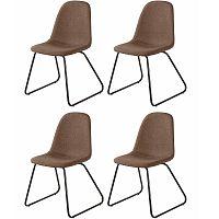 Sada 4 hnědých jídelních židlí Støraa Colombo