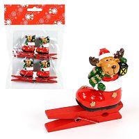 Sada 4 kolíčků s vánočním motivem Unimasa Sob