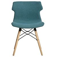 Sada 4 modrých jídelních židlí Marckeric Cala