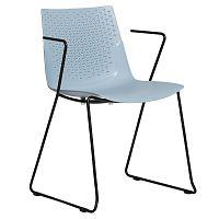 Sada 4 modrých jídelních židlí Marckeric Edda