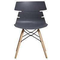 Sada 4 šedých jídelních židlí Marckeric Iris