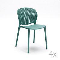Sada 4 světle modrých židlí Design Twist Gavle