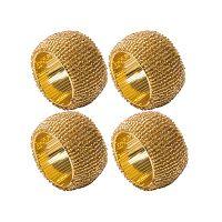 Sada 4 zlatých kroužků na ubrousky Creative Tops Christmas