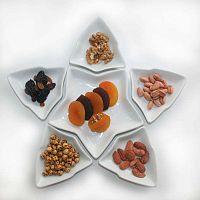 Sada 6 bílých servírovacích talířů Kutahya Sartr