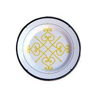 Sada 6 melaminových talířků Sunvibes Arabesque, ⌀ 20 cm
