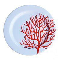 Sada 6 melaminových talířů Sunvibes Caorail Rouge, ⌀ 25 cm