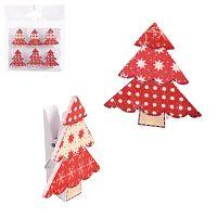 Sada 6 vánočních kolíčků Unimasa Vánoční stromek
