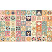 Sada 60 dekorativních samolepek na stěnu Ambiance Monteviode, 15 x 15 cm