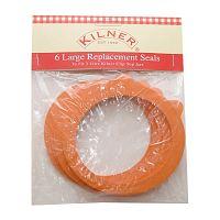Sada 6ks gumového těsnění na zavařovací sklenice Kilner