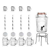 Sada nápojového automatu a 8 sklenic Kilner Vintage