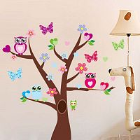 Samolepka Tree and Butterflies on Tree
