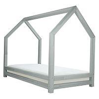Šedá dětská postel z lakovaného smrkového dřeva Benlemi Funny, 120 x 200 cm