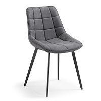 Šedá jídelní židle La Forma Adah