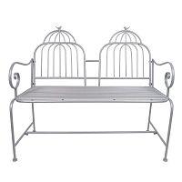 Šedá kovová zahradní lavice Ewax Cage