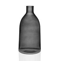 Šedá skleněná váza Versa Prahna, výška 29 cm
