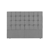Šedé čelo postele Kooko Home Hasso, 120 x 160 cm