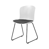 Šedo-bílá jídelní židle Interstil Story