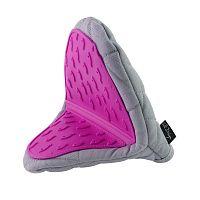 Šedo-fialová bavlněná chňapka se silikonem Vialli Design