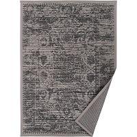 Šedobéžový vzorovaný oboustranný koberec Narma Palmse, 140x200cm