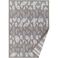 Šedobéžový vzorovaný oboustranný koberec Narma Treski, 140x200cm