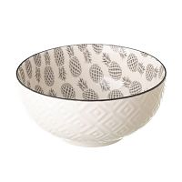Šedobílá porcelánová miska Unimasa Pinna, průměr14,9cm