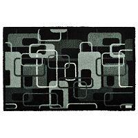 Šedočerná rohožka Zala Living Design Funky Grey Black Retro, 67x180cm