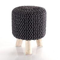 Šedý pletený puf Tomasucci Knit