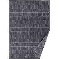 Šedý vzorovaný oboustranný koberec Narma Kursi, 70x140cm