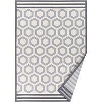 Šedý vzorovaný oboustranný koberec Narma Oore, 70x140cm