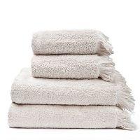 Set 2 krémových bavlněných ručníků a 2 osušek Casa Di Bassi Bath